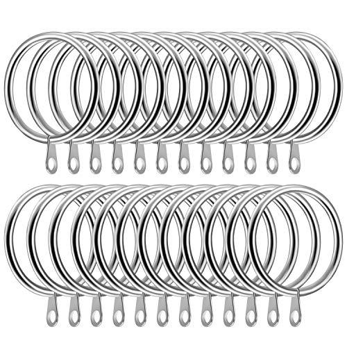 SelfTek 24 Piezas Anillos cortina metal Diámetro