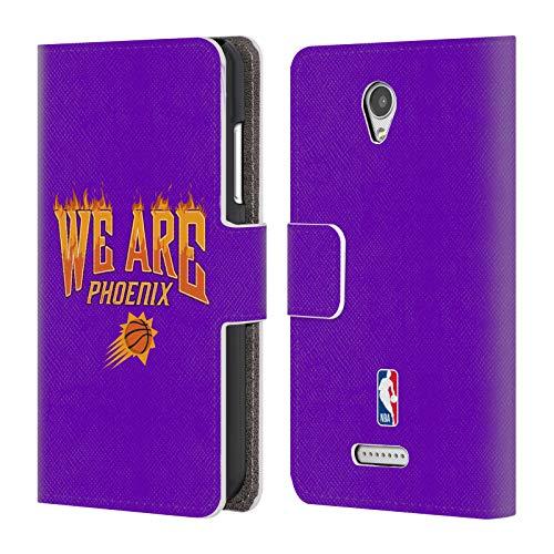 Head Case Designs Offizielle NBA Suns We Are Phoenix 2018/19 Team Slogan 2 Brieftasche Handyhülle aus Leder für Lenovo B/Vibe B