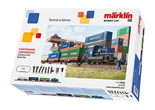Märklin 29452 Modelleisenbahn Containerzug H0 Modellbahn Startset, Bunt