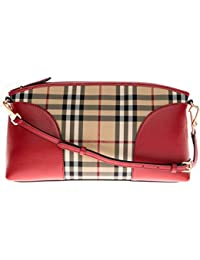 92795ea5479dd Sac à main Burberry Femme Polyamide Rouge, Check Burberry et Or 3992861  Rouge 8x17x31.