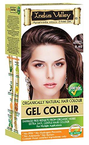 Indus Valley Kupfer Mahagoni Gel Haarfärbemittel Kit 5.4