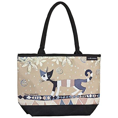 VON LILIENFELD Tasche Damen Henkeltasche Shopper Bedruckt Motiv Kunst Katze Rosina Wachtmeister: Brunello