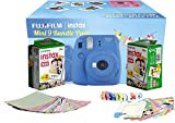 #6: FujiFilm Instax Mini 9 Bundle Pack Instant Camera Combo Offer (Available in Different Color Combo)(Color Avaialbel in the combo Flamingo Pink, Cobalt Blue, Ice Blue, Lime Green & Smoky White) (Cobalt Blue)