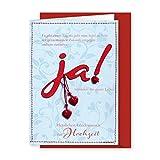 Knopfkarte 31 - JA! - Hochzeitskarte