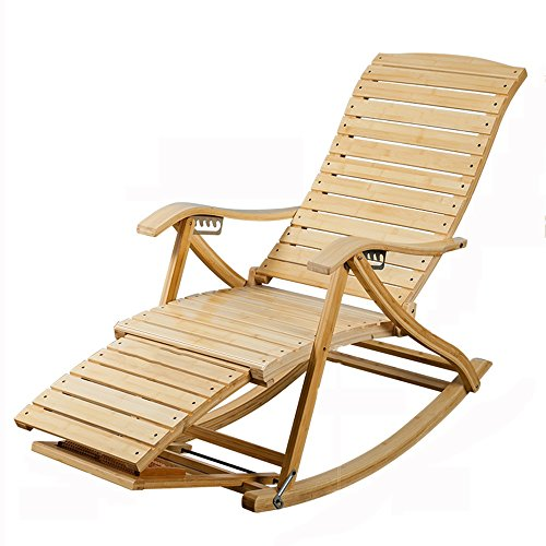 Stühle Feifei Lazy Chair Massivholz zusammenklappbar Wohnzimmer Schlafzimmer Balkon Casual Rückenlehne Bambus Schaukelstuhl   Wohnzimmer > Stüle > Schaukelstühle   Bambus   Stühle