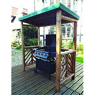 Hand Made Chunky Rustic Wooden BBQ Barbecue Shelter Roof Cover