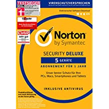 Symantec Norton Security Deluxe | 5 Geräte | PC/Mac/Android/iOS | Download