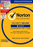 Symantec Norton Security Deluxe | 5 Geräte | PC/Mac/Smartphone/Tablet | Download