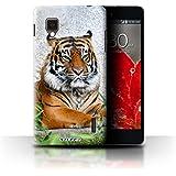 Carcasa/Funda STUFF4 dura para el LG Optimus G E975 / serie: Animales de la fauna - Tigre