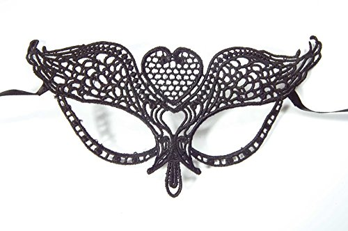 Schwarze Stoffmaske zum Binden Venezianisch, Gothic, Verkleidung, ()