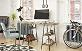 Buyqualia Mesa de Oficina o Escritorio con estantes en Color