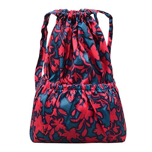 Pingtr - Schulrucksack,Mode Frauen gedruckt Umhängetasche Kürbis Freizeittasche mit großer Kapazität Reisetasche (LxBXH:40x13x49cm)