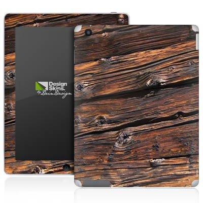 Apple iPad 2 Aufkleber Schutz Folie Design Sticker Skin Verwitterte Holzplanken Holz Look Holzboden - Verwitterte Holzplanken