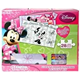 Disney Minnie Mouse Giant Floor 28 Piece Puzzle & Coloring Activity Kit by Disney