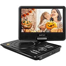 """APEMAN 9.5"""" Reproductor de DVD Portátil para el Coche Reproductor DVD con Pantalla Giratoria Soporta Tarjeta SD /USB /CD /DVD Batería Recargable con Mando a Distancia"""