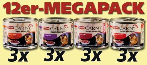 katzeninfo24.de Animonda Carny Adult Fleisch Menue, 12er Pack (12 x 200 g)