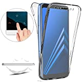 ZHXMALL Coque Samsung Galaxy A6 2018,Samsung Galaxy A6 2018 Etui TPU [Nouvelle Version] Coque 360 Degrés, Premium Flexible Souple Silicone Etui Ultra Mince Transparent Invisible Case