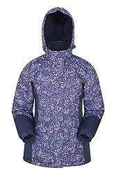 Mountain Warehouse Dawn Skijacke für Damen - Schneedicht, warme Snowboardjacke, Fleecefutter, Bündchen, Saum und Kapuze zum Verstellen - Ideale Winterjacke Marineblau 38 DE (40 EU)