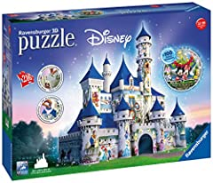 Idea Regalo - Ravensburger Italy Castello Disney Puzzle 3D, 12587