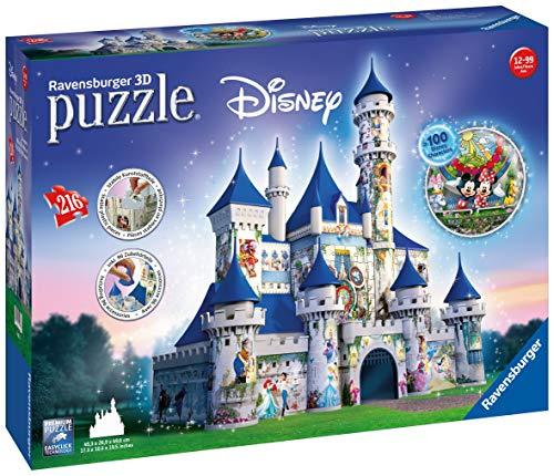 Ravensburger 12587 3D-Puzzle Disney Schloss (Dekorationen Die Welt Weihnachten Um Rund)