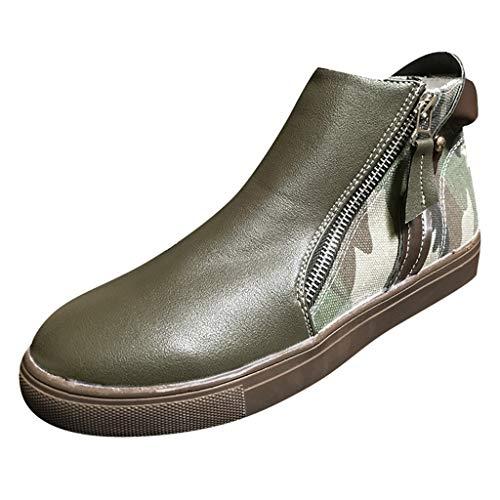 Buckle Mid High Boot - MuSheng Damen Stiefel Weiches Leder Stiefeletten
