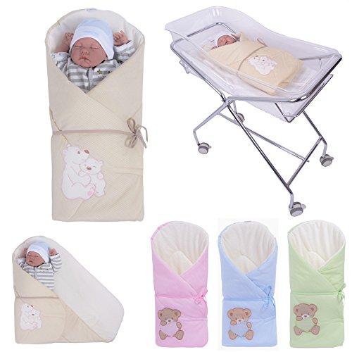 Sevira Kids - Gigoteuse d'emmaillotage Multi-Usage en 100% coton certifié - Nid d'ange naissance, différent coloris
