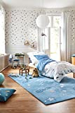 Esprit Home I Kuscheliger Kinderteppich I Han ESP-4270-01 I (70 x 140 cm, Blau)