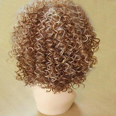 Oofay jf ® parrucche sintetiche delle donne ricce di modo breve bionda colore marrone caldo di vendita. , blonde