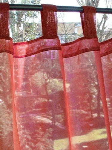 Just Contempo - Tenda a Pannello in Voile, Tinta Unita, fermatende Incluso, 147,5 cm, Panello 147 x 183 cm, Scarlatto Rosso (Bordeaux Marrone Vinaccia Rosso)