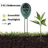 Dyna-Living Bodenfeuchtemessgerät, 3 in 1 Boden Test Kit Gartengeräte für PH, Licht und Feuchtigkeit, Plant Tester für Haus, Bauernhof, Rasen, Indoor & Outdoor (Keine Batterie Benötigt)
