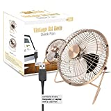 Ventilateur-USB-Portable-Bureau-6-034-Twitfish-Art-Deco-Vintage-Structure-Alu