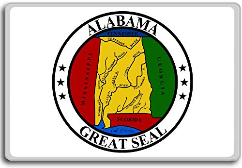 Alabama Acryl (Seal Of Alabama, Usa fridge magnet - Kühlschrankmagnet)