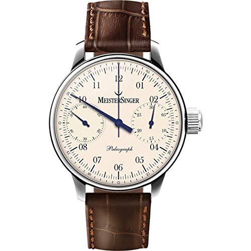 Meistersinger Men's Paleograph 43mm Brown Steel Case Mechanical Watch SC103