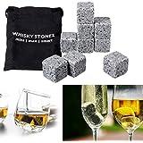 Yongse 9Pcs whisky de hielo Las piedras de granito para bebidas climatizado Cubos Scotch El congelador bolsa