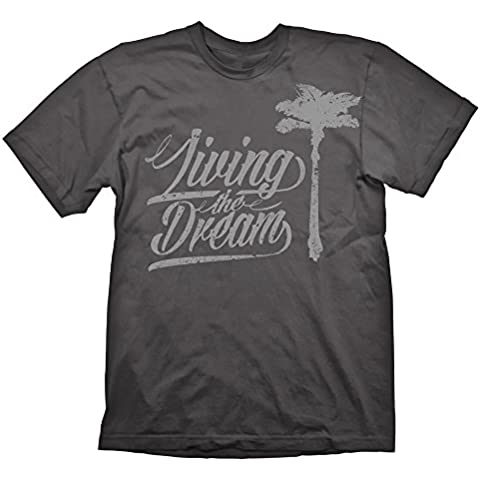 Dead Island 2 T-Shirt Living The Dream Grey, S [Importación Alemana]