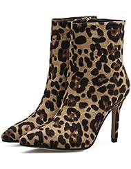 Chelsea Boot Bow Round Toe High Tube Boot Kitin Talon Chaud / Hiver Chaussures À Talons En Cuir Femmes Comfort Boot