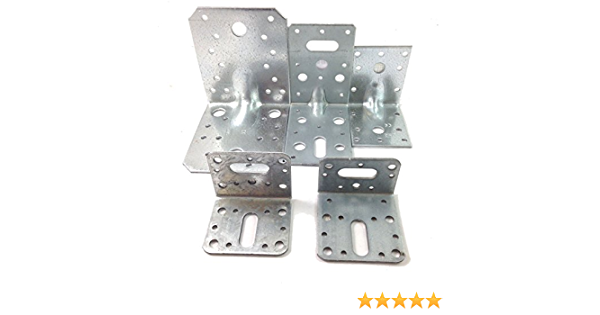 50mm x 50mm REINFORCED GALVANISED ANGLE BRACKET HEAVY DUTY DECKING JOISTS TIMBER