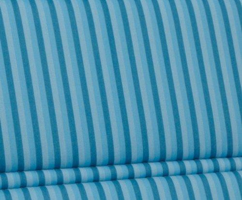 Kettler 0309011-8711 Auflage für Bank 120 x 47 x 3 cm (Nur Sitzfläche), für textil-bezogene Aluminium-Gartenmöbel, hellblau gestreift