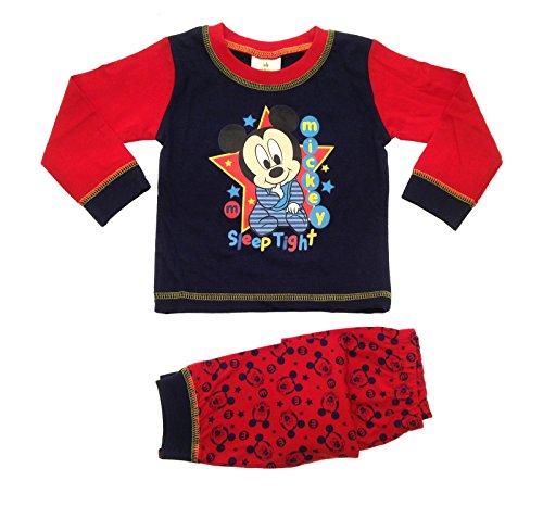 Kinder/Jungen Schlafanzug - Motiv Disneys Micky Maus - Micky Maus - Sleep Tight - 12-18 Monate (Fancy Dress Disney Figuren)