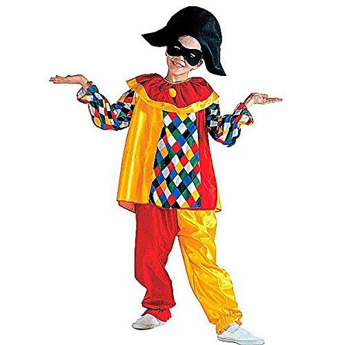 Widmann costume per bambini arlecchino, multicolore, ((128 cm/5-7 anni) 38606