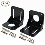 2PCS Nema 17 Stepper Motor Mounting Bracket WITH M3 Screws and M4 Screws.