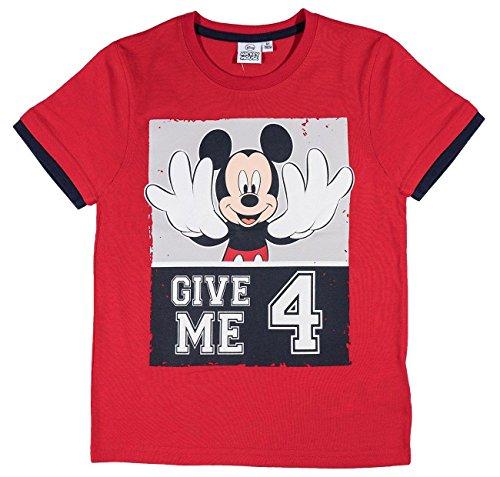 Mickey Mouse Kollektion 2017 T-Shirt 92 98 104 110 116 122 128 Kurz Jungen Sommer Neu Maus Disney Blau (104-110; Prime BL, Rot) (Herren Maus Mickey)