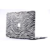 GoRogue Matte Soft-Touch Plastic Shell 3 In 1 Case For Apple MacBook Air 13 Inch With Logo Cutout (Leather Zebra)