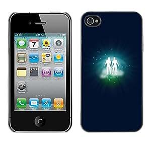 LECELL -- Schutzhülle Abdeckung Hautschutz For Apple iPhone 4 / 4S -- Gemini Twins Zodiac Sign --