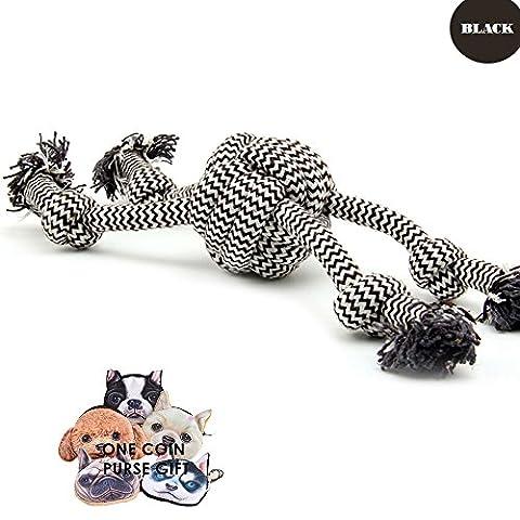 PetFun Haltbares Kauen Ball Spielzeug für kleine, mittelgroße und große Hunde, Länge 33,5 cm