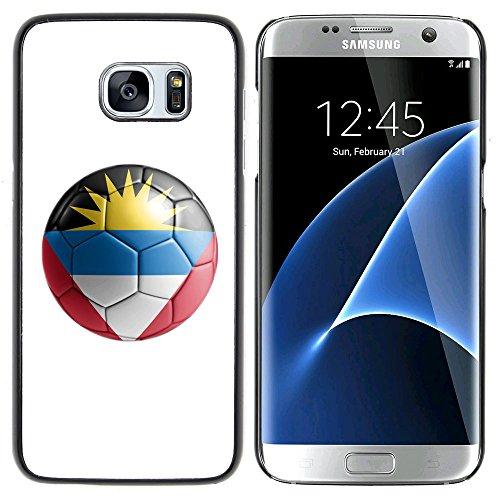 STPlus Bandera y balón antiguos del equipo de fútbol de Antigua y Barbuda Carcasa Funda Rigida Para Samsung Galaxy S7 Edge