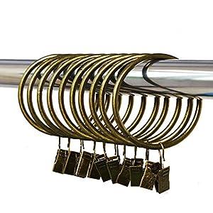 Gardinenringe Vorhangringe mit Clips Vorhang Clip 20 Stück Bronze