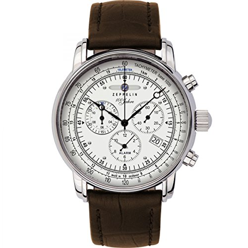 Mens Zeppelin 100 Jahre Alarm Chronograph Watch 7680-1