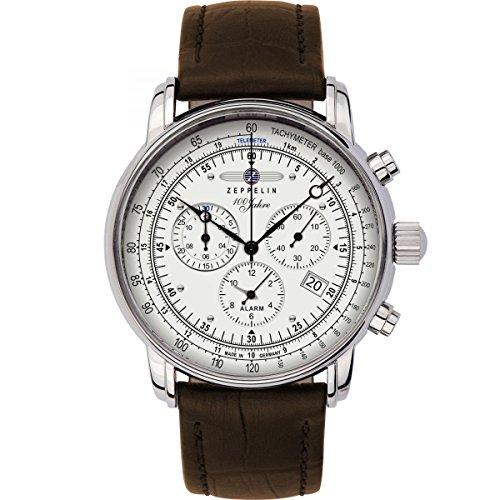 Mens Zeppelin 100 Jahre Alarm Chronograph Watch 7680-1