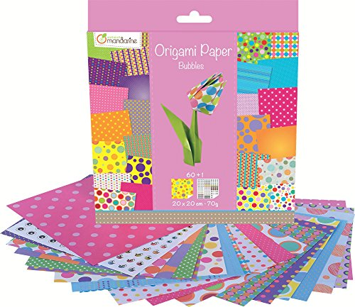 Avenue Mandarine Bubbles Origami Paper, Multi-Color